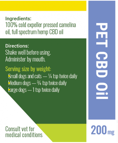 cbd oil for pets label