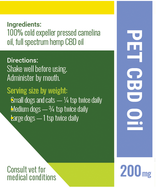 cbd oil for pets label