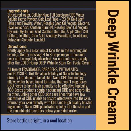 cbd cream label