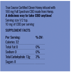cbd honey label